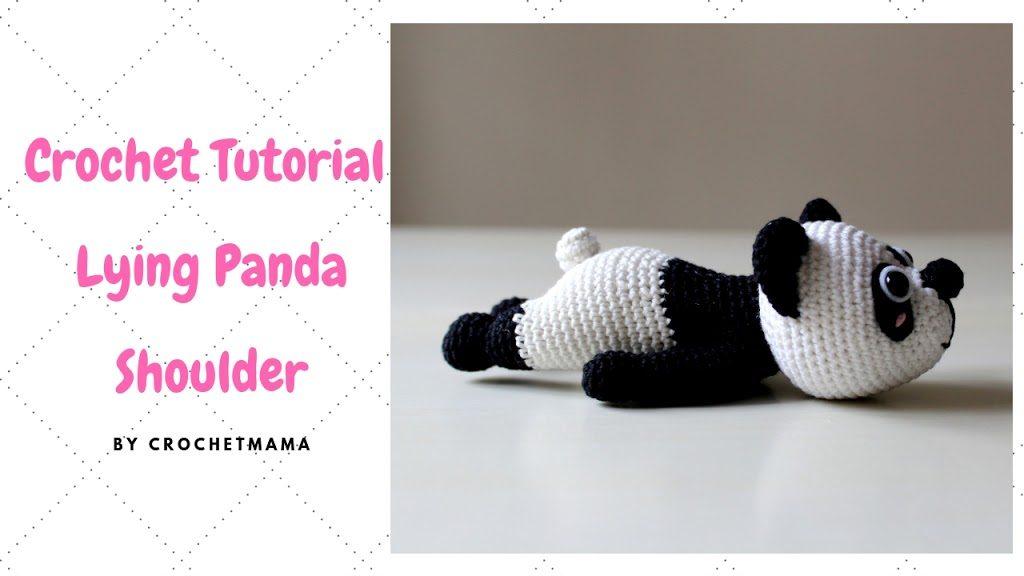 Helenmay Crochet Amigurumi Large Panda Bear Bamboo Leaves Part 5 ... | 576x1024