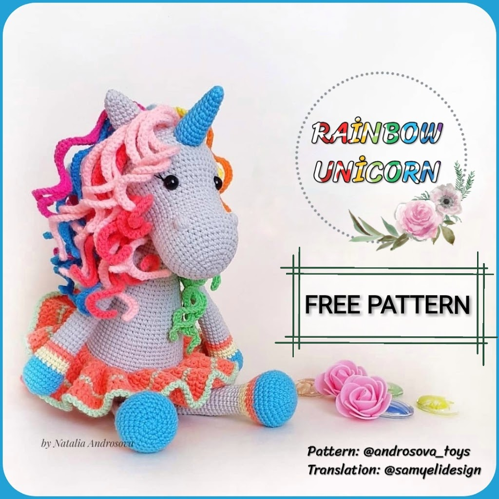 Free Crochet Unicorn Pattern - Red Ted Art - Make crafting with ...   1024x1024
