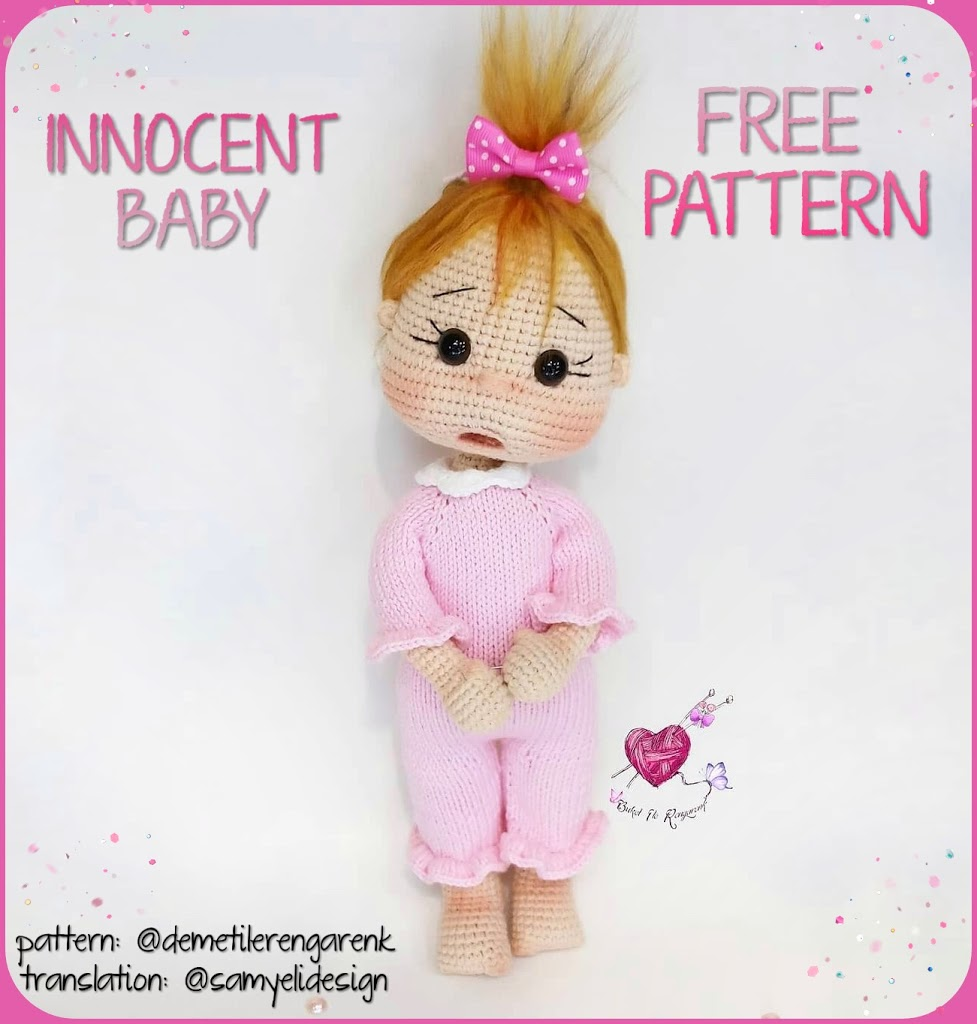 Amy the Amigurumi Doll - A Free Crochet Pattern - Grace and Yarn | 1024x977