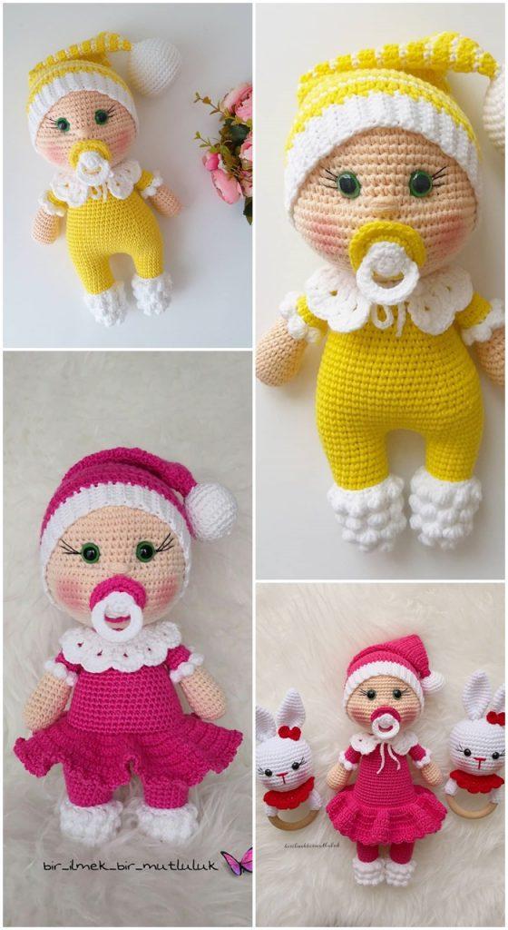 Amigurumi Doll Pacifier Baby Free Crochet Pattern
