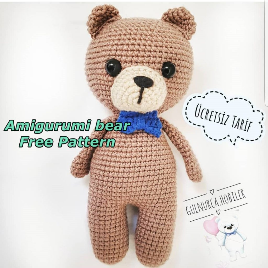 50 Free Crochet Teddy Bear Patterns ⋆ DIY Crafts | 1024x1024