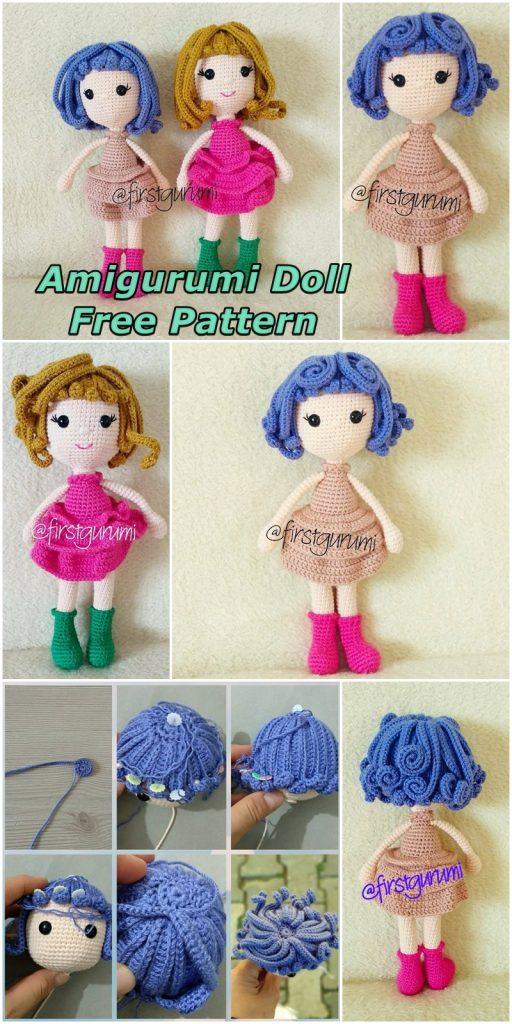 Amigurumi Doll Zühre Free Crochet Pattern in 2020   Crochet dolls ...   1024x512