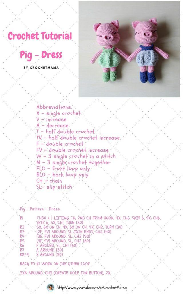 Back post single crochet (bpsc) | Amigurumi tutorial | lilleliis | 1024x640