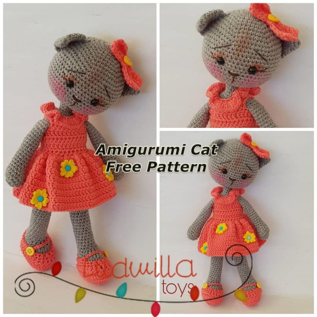 This Ballerina Cat Doll Crochet Pattern... - Amigurumi Today ... | 1024x1024