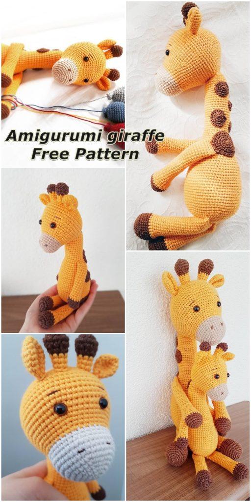 32 Free Crochet Giraffe Amigurumi Patterns ⋆ DIY Crafts | 1024x512