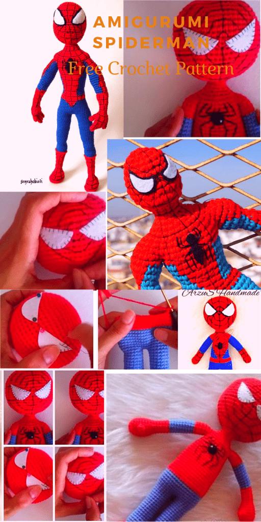 Amigurumi Örümcek Adam Yapımı | Amigurumi modelleri, Örümcek adam ... | 1024x512