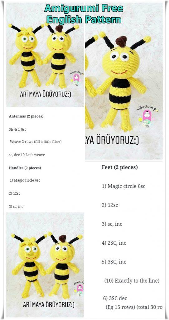 Amigurumi Bear Maya | Teddybär muster, Amigurumi stricken und ... | 1024x542