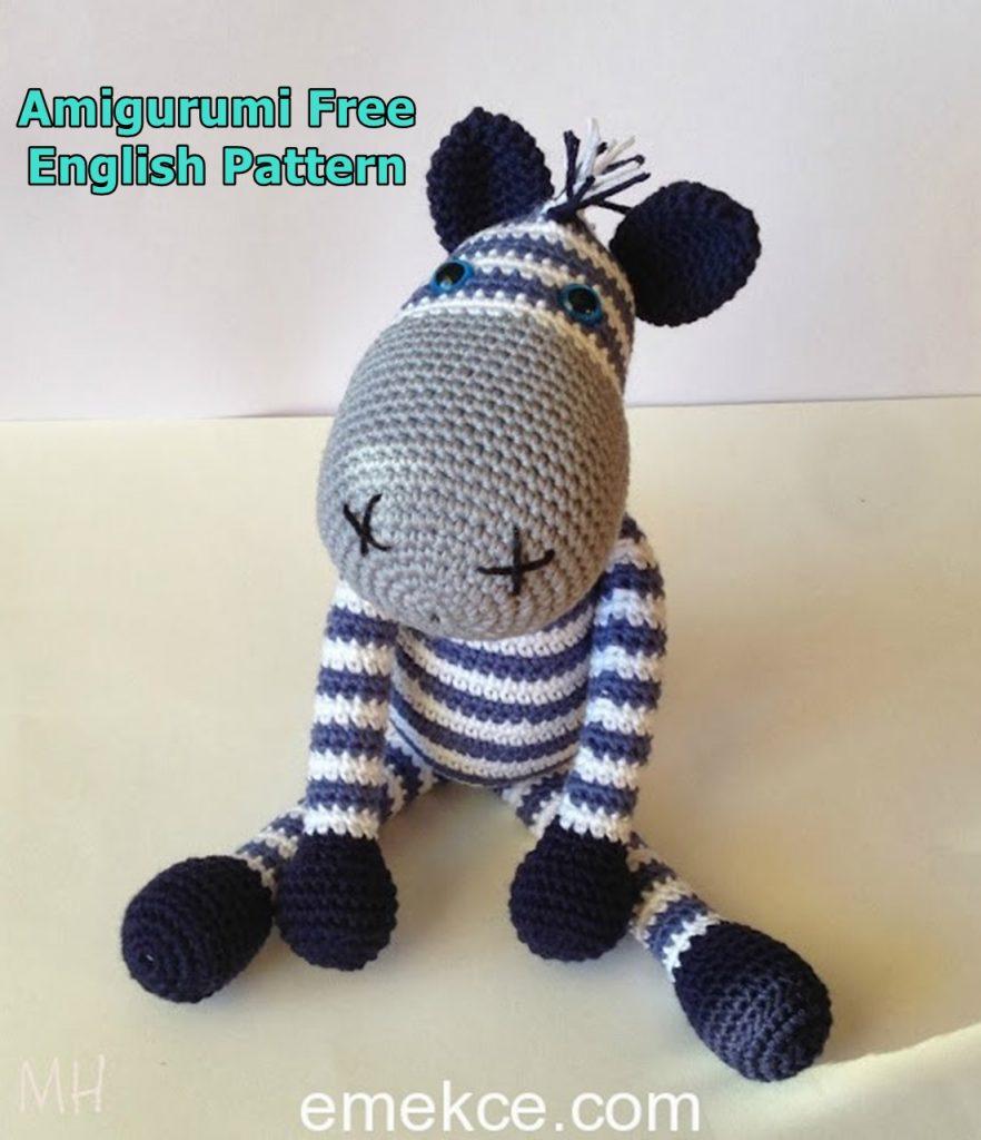 Crochet PATTERN PDF Amigurumi Zebra amigurumi pattern | Etsy | 1024x882