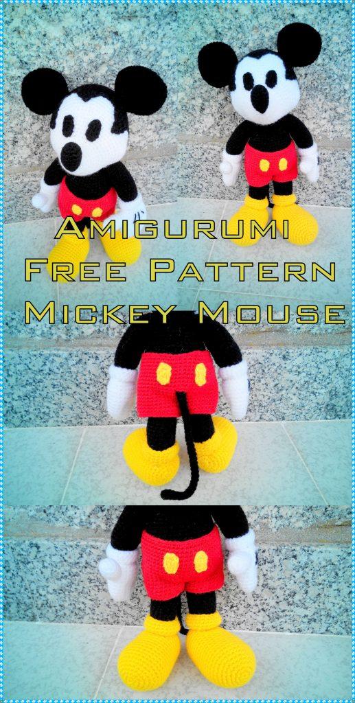 Crochet Mickey Mouse Patterns, Hat, Amigurumi ⋆ DIY Crafts | 1024x517