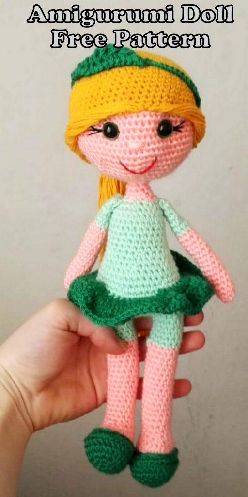 Amigurumi Nature Leaf Doll Free Crochet Pattern
