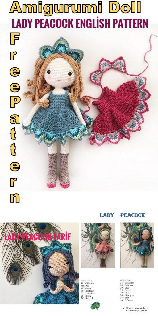 Doll – mushroom and Rattle, Free pattern in English, Italian and ... | 1024x512