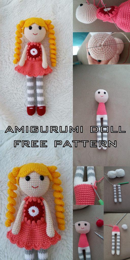 Crochet Pattern Cute Doll- Lol inspired Amigurumi Doll- Crochet ... | 1024x512
