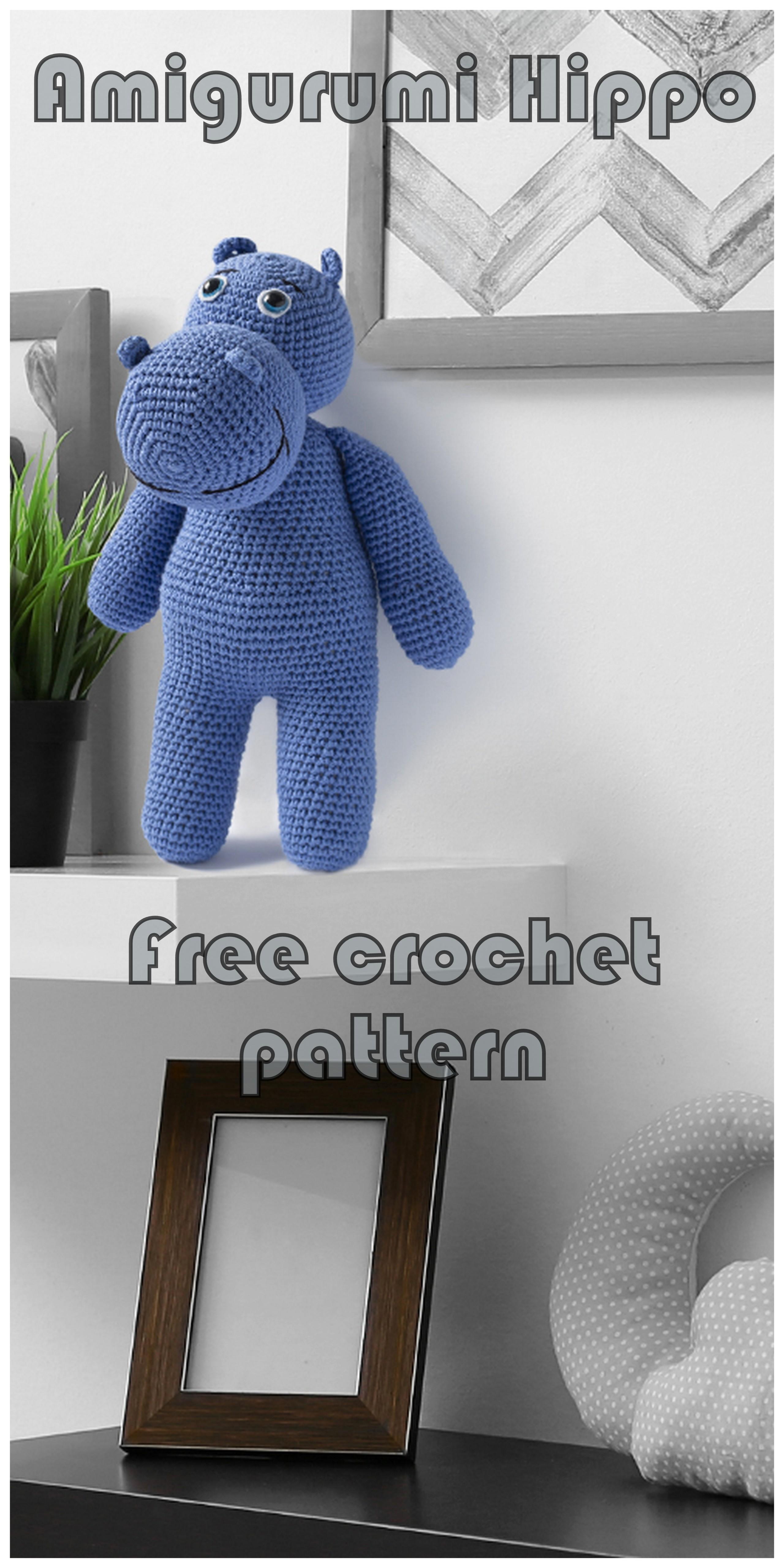 How to crochet an Hippo | World Of Amigurumi - YouTube | 5120x2560