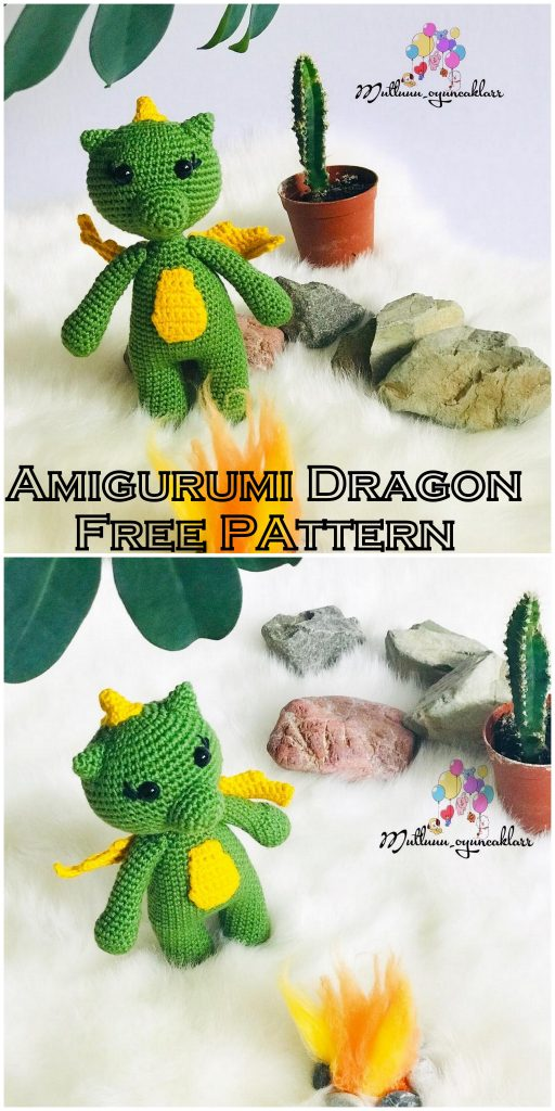 Amigurumi Dragon Free Pattern | 1024x512