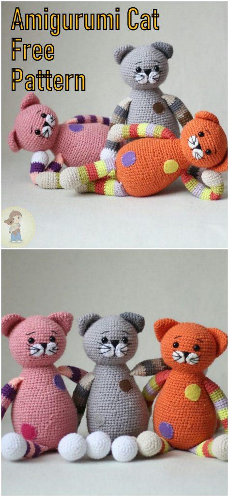 Amigurumi Chubby Cats Free Crochet Pattern