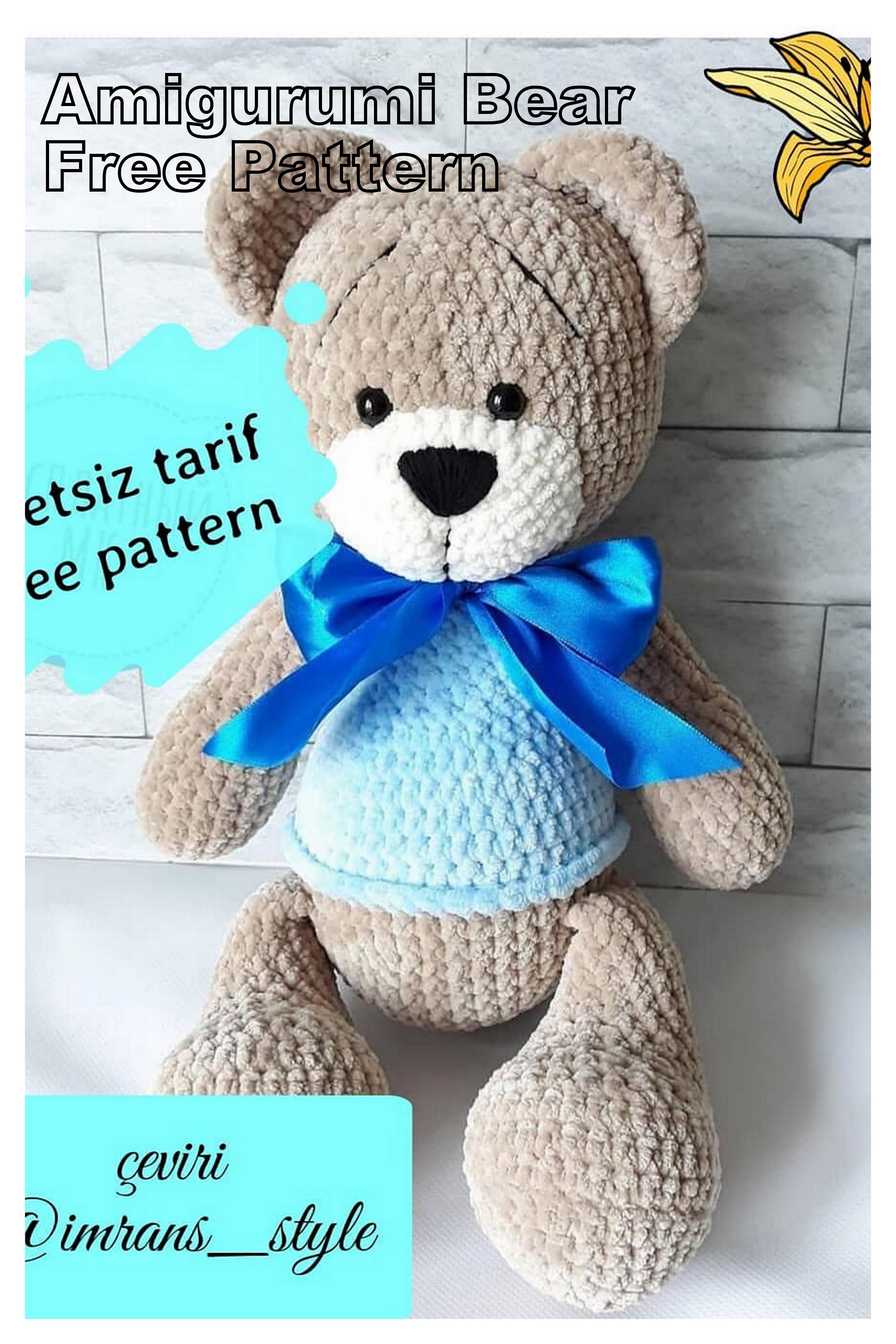 Crochet bear amigurumi pattern | Crochet bear patterns, Crochet ... | 5120x3414