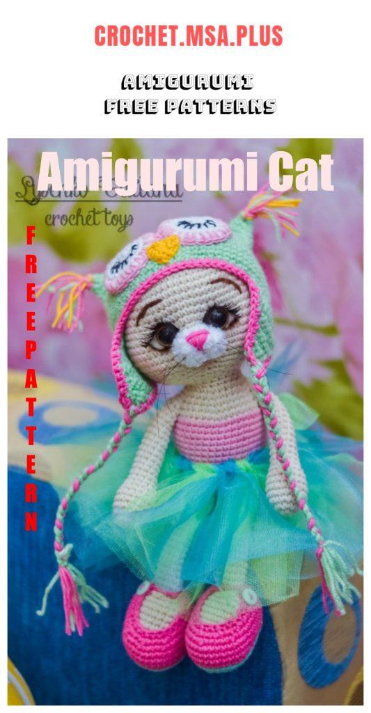 Amigurumi Cat in Hat Free Crochet Pattern