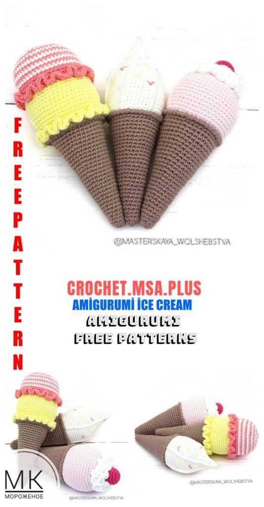 Amigurumi Ice Cream Free Pattern | 1024x533